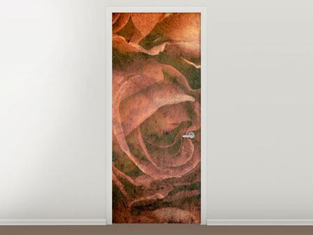 Door Mural Rose Bouquet