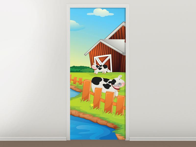 Door Mural A Cow Makes Muh