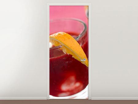 Door Mural Raspberry Cocktail