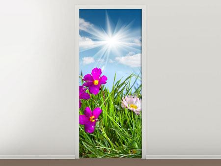 Door Mural Flowering Meadow