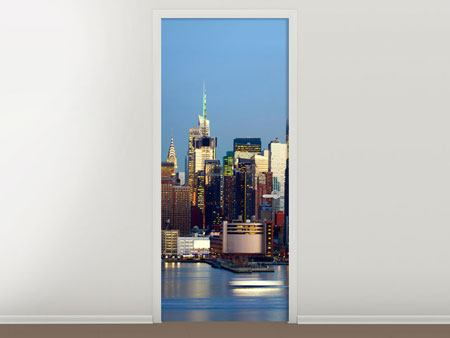 Door Mural Skyline Midtown Manhattan