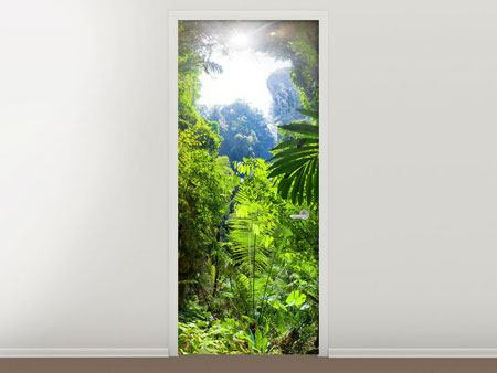 Door Mural Clearing In The Jungle