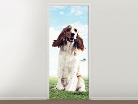 Door Mural Funny Dog