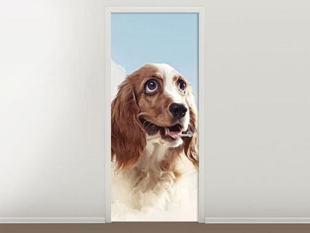 Door Mural Happy Dog
