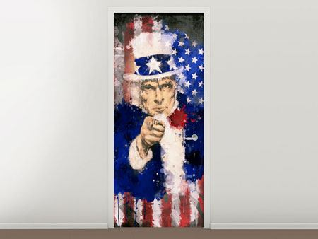 Door Mural Uncle Sam