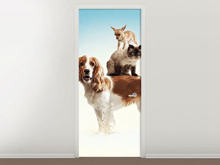 Door Mural Animal Stack
