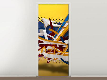 Door Mural Graffiti Art