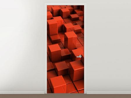 Poster de Porte Rectangle 3D