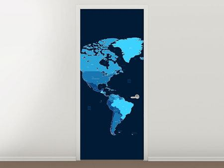 Door Mural World Map