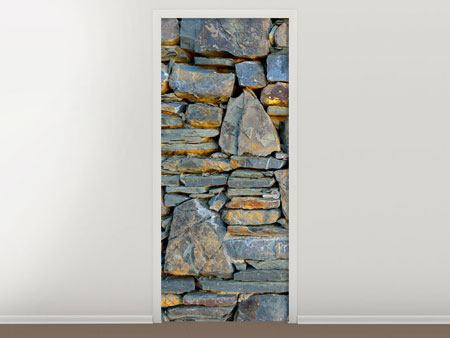 Door Mural Natural Stone Wall
