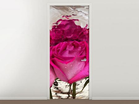 Door Mural The Rose Reflection