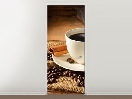 Door Mural Coffee Break