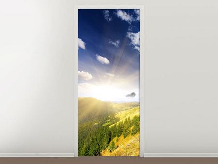 Door Mural Sunrise In The Mountains