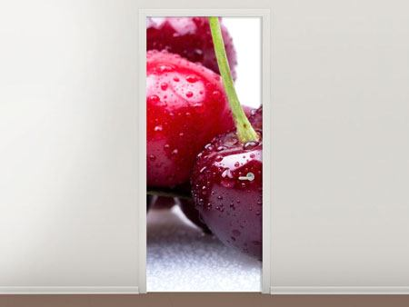 Door Mural Cherries