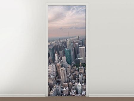 Door Mural Skyline View Over Manhattan