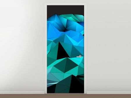 Door Mural 3D Diamonds