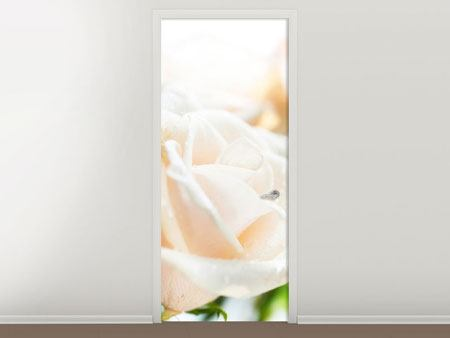 Door Mural Rose Perspective