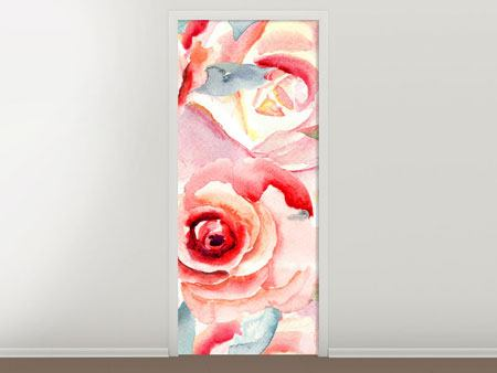 Door Mural Painting Rose