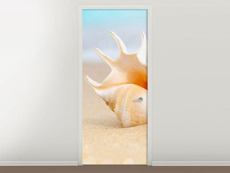 Door Mural The Shell On The Beach