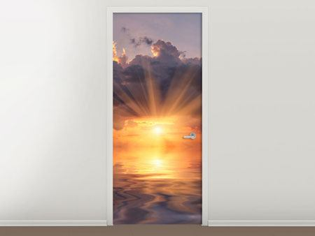 Door Mural Thrilling Sunset