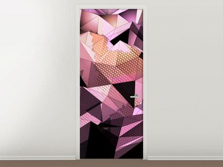 Door Mural 3D Crystal Structure