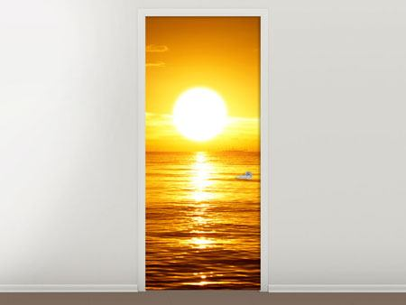 Door Mural Fantastic Sunset