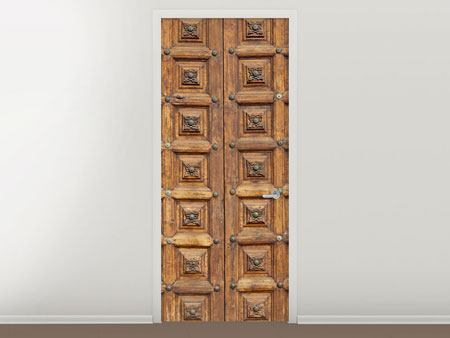 Door Mural Antique Wooden Door