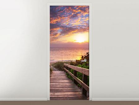 Door Mural Beautiful Sunset