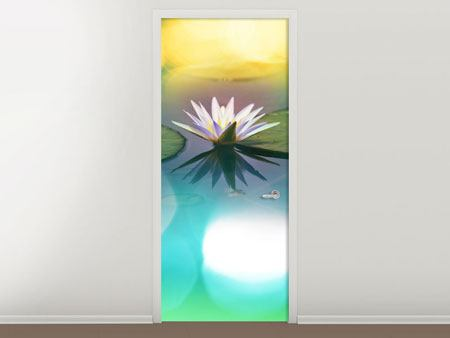 Door Mural Lotus Reflection