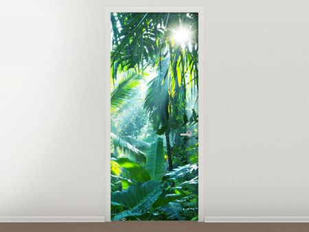 Door Mural In Tropical Forest