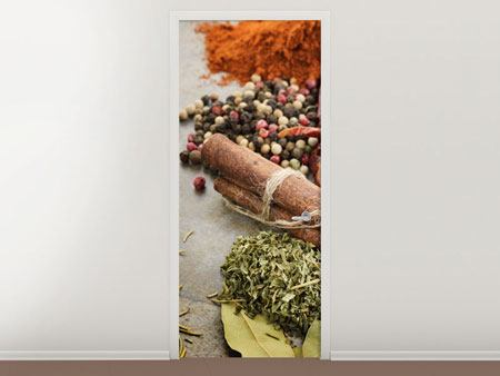 Door Mural Spices Of The South