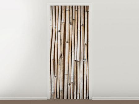 Door Mural Dried Bamboos