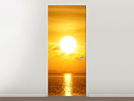 Door Mural Sunset Lake