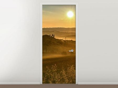 Door Mural Sunset In The Rocks