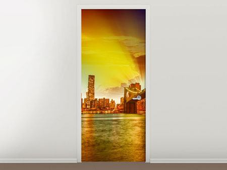 Door Mural Skyline Brooklyn Bridge NY