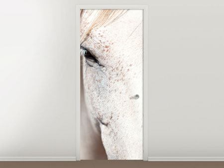 Door Mural Whole Blood White Horses