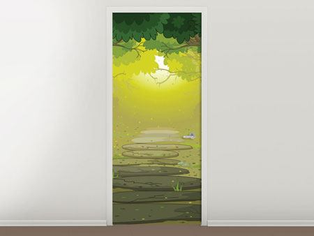 Door Mural Fairy Tales Forest