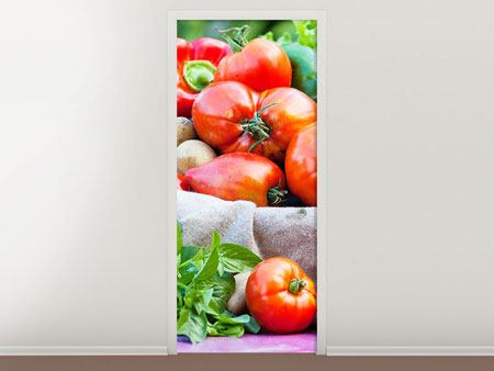 Door Mural Vegetable Basket
