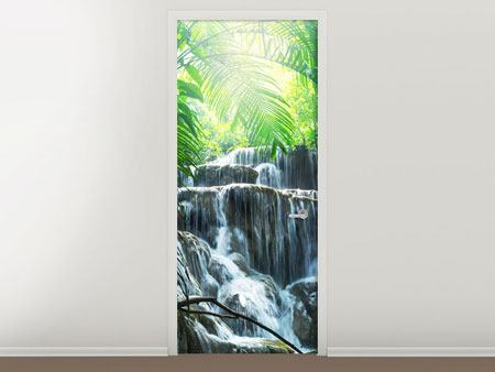 Door Mural Waterfall Agua Azul