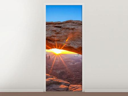 Door Mural Sunset At Mesa Arch