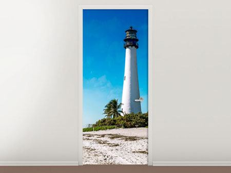 Door Mural Cape Florida Ligthhouse