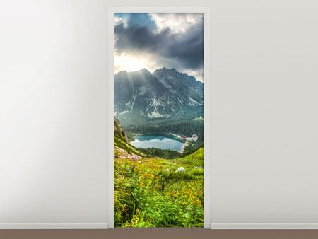 Door Mural Mountain Views