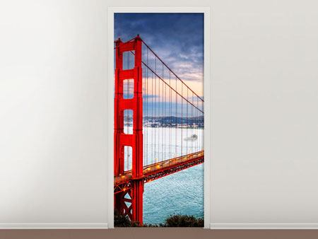 Door Mural The Golden Gate Bridge At Sunset