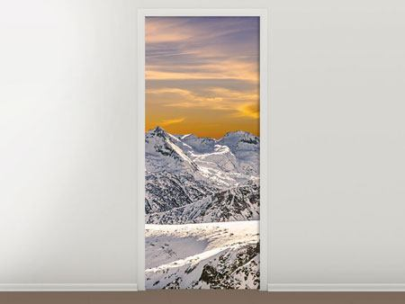 Door Mural Sunset In The Mountains