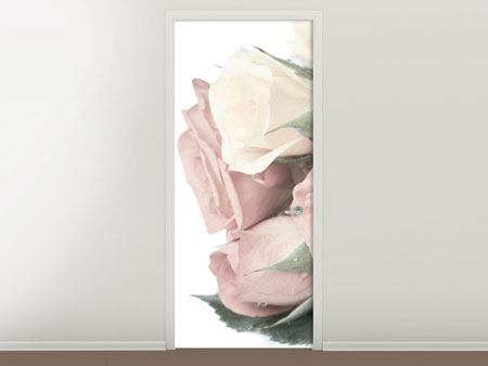 Door Mural Romantic Rose