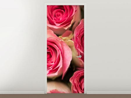 Door Mural Rose Love