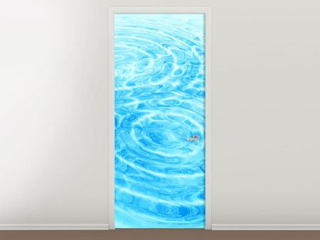 Door Mural Abstract Water