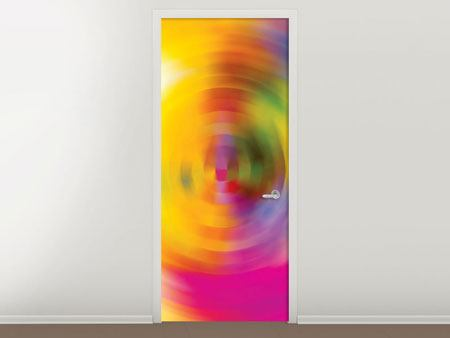 Door Mural Abstract Color Circles