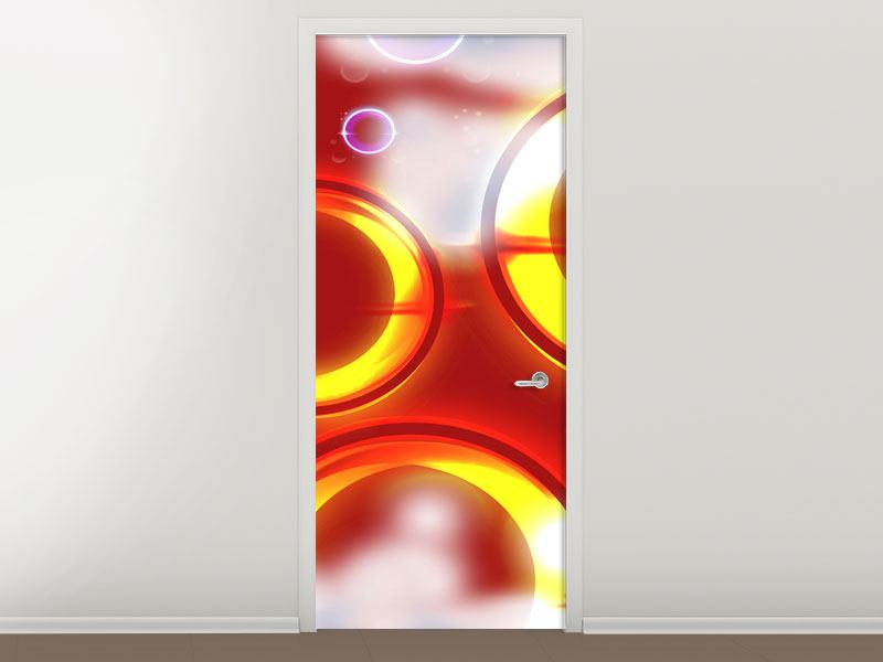 Door Mural Abstract Retro