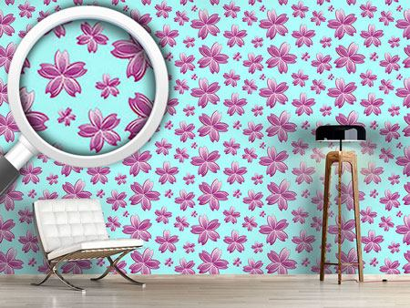 Design Wallpaper Flowers In The Water